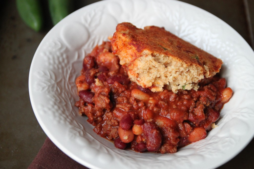 Chili Beans and Cornbread Casserole | Cooking and Recipes
