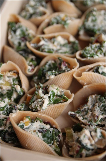 Swiss Chard Stuffed Shells – Bran Appetit