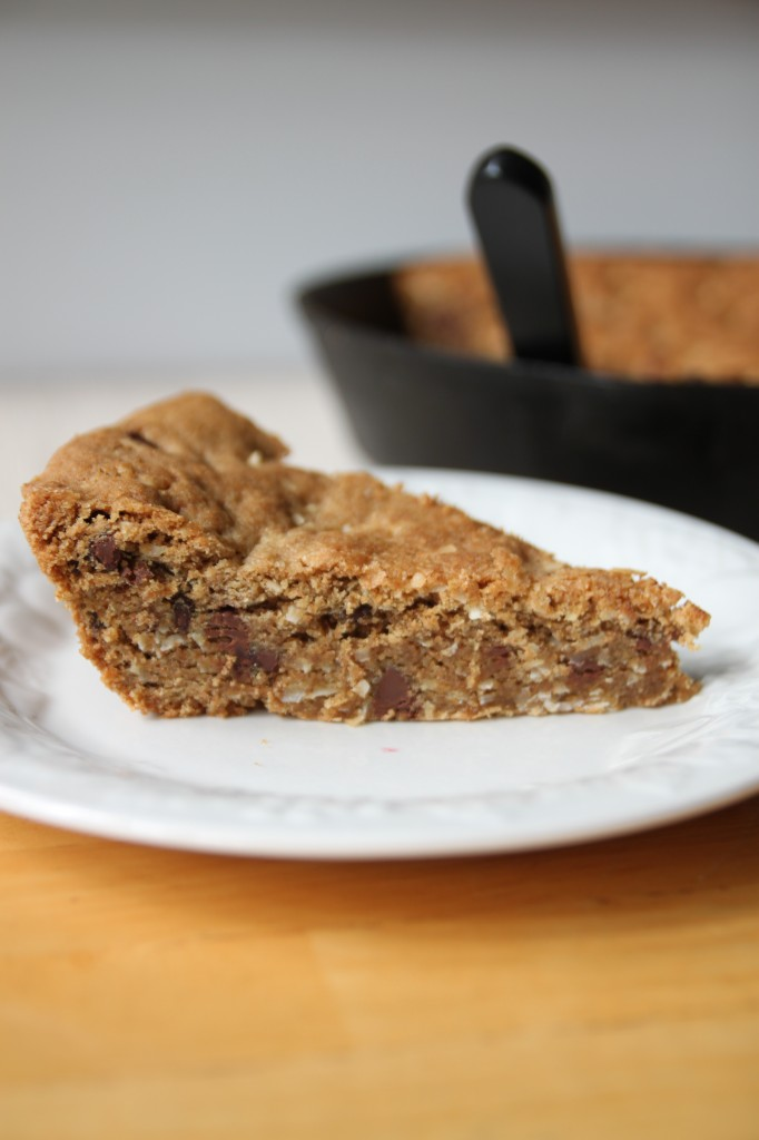 Whole Wheat Coconut Chocolate Chip Cookie Cake – Bran Appetit