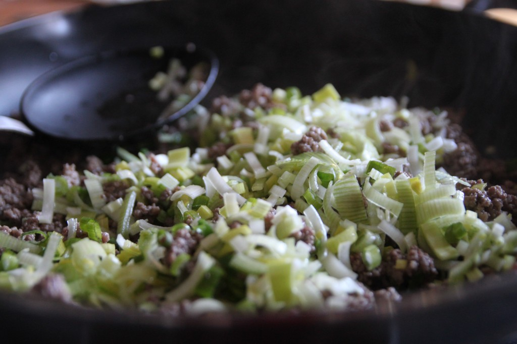 spiced beef and leek fried rice 3