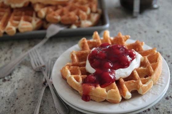 cherry cheesecake waffles 3