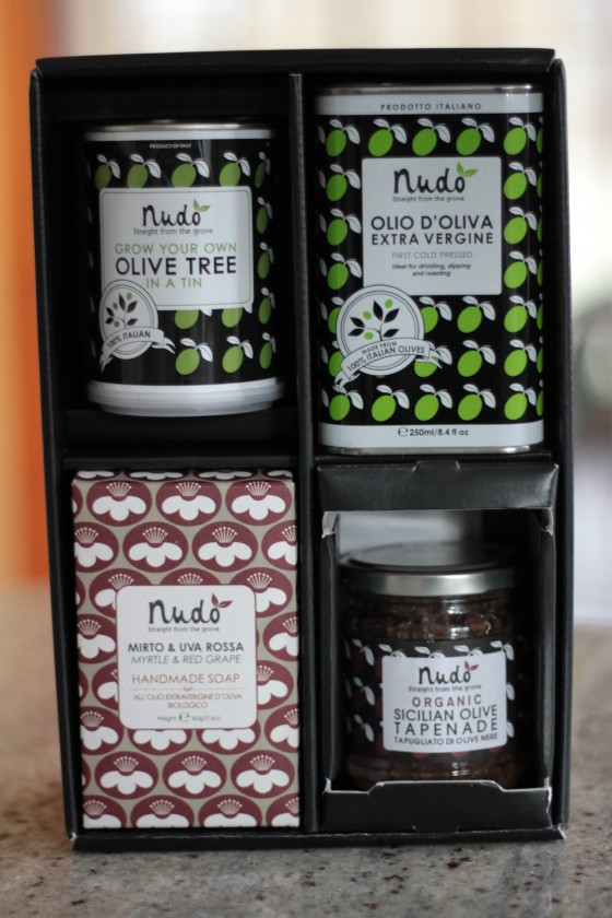 Nudo olive oil boxset giveaway