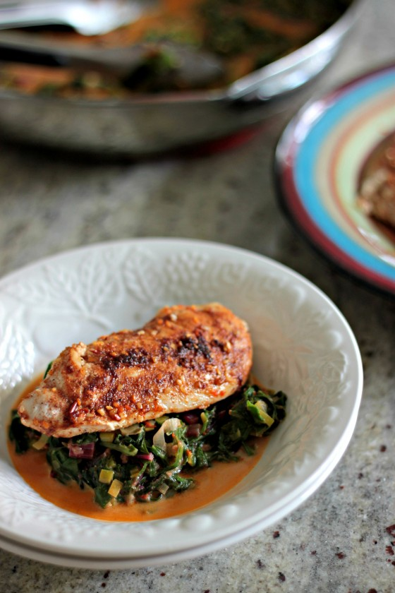 thai chicken coconut cream chard