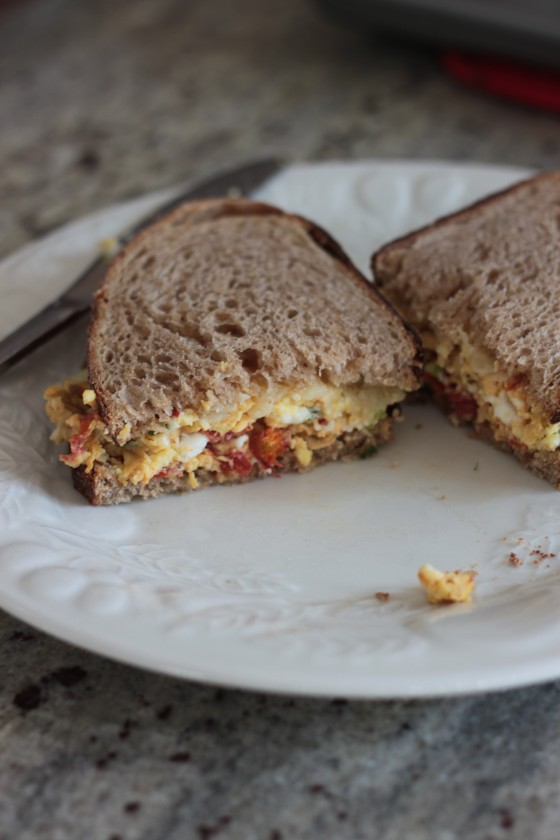 sriracha egg and cheese sandwich