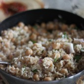 lemony falafel brown rice