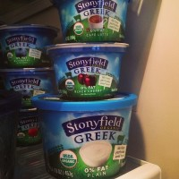 stonyfield greek yogurt