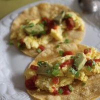 hummus breakfast tacos