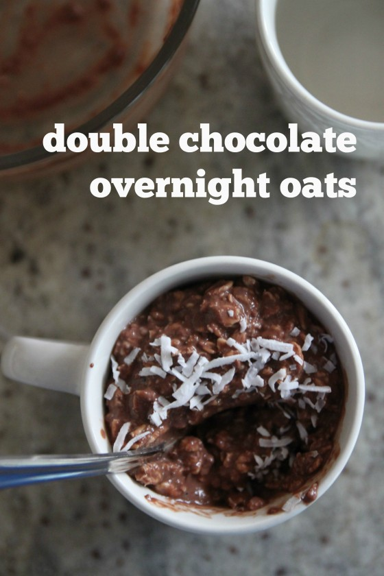 double chocolate overnight oats