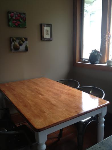 refinished kitchen table