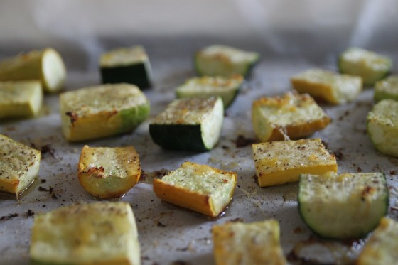 lemon parmesan roasted zucchini