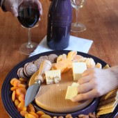 le creuset wine and cheese collection
