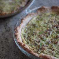 leek and sausage quiche