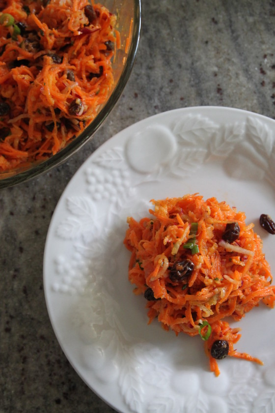 spring carrot and raisin salad