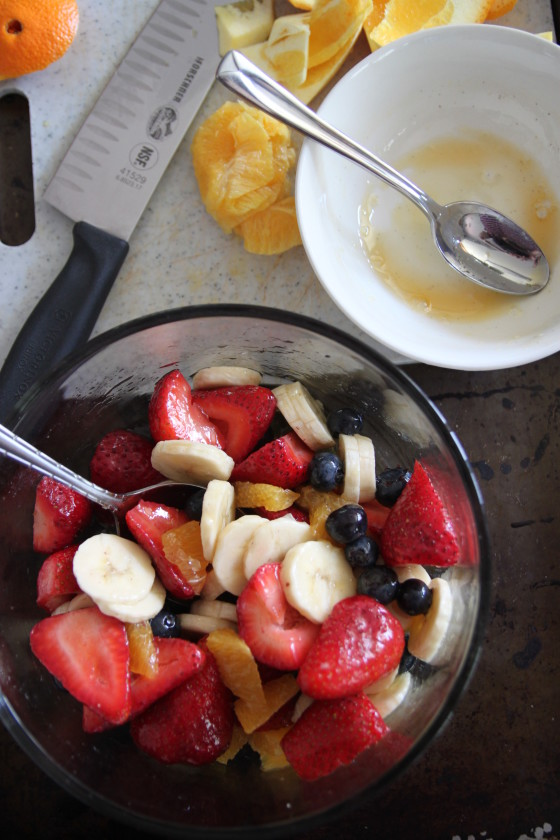 orange vanilla honey fruit salad