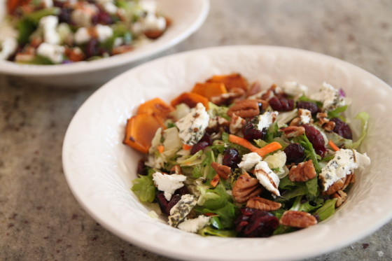 roasted squash pecan cranberry salad