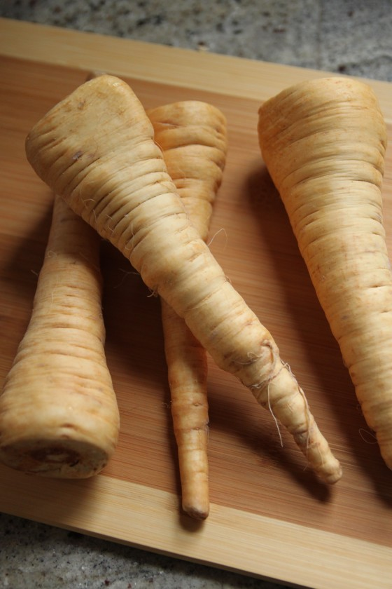 coconut curry braised parsnips