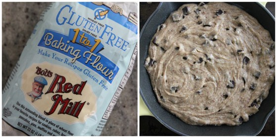 gluten free chocolate chunk skillet cookie