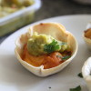 bean hummus and guacamole taco cups