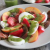peach caprese salad with basil dressing