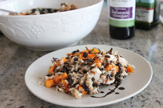 wild rice salad with turkey, sweet potato, and currants ...