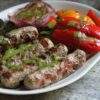 cilantro chimichurri marinated turkey brats